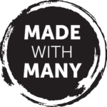 The logo for Made with Many who are supporting this event in Corby