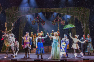 "Exclusively aboard the Disney Wonder in the Walt Disney Theatre, ""Frozen, A Musical Spectacular"" tells the classic story from the animated feature ""Frozen"" and is presented like never before with an innovative combination of traditional theatrical techniques, modern technology and classic Disney whimsy. (Matt Stroshane, photographer)"